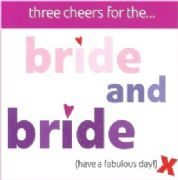 Bride & Bride Civil Partnership Greeting Card
